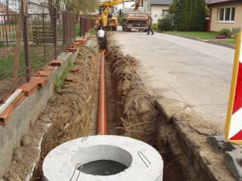 Dažďová kanalizácia objekt SO 02 ulica 1. Mája a Školská