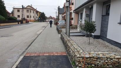 Rekonštrukcia chodníka na Cajlanskej ul. – I. etapa