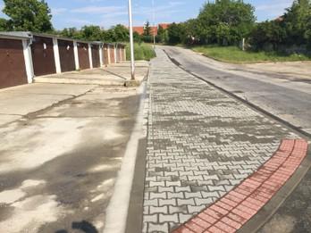 Chodník Cajlanská a Svätoplukova ulica – udržiavacie práce