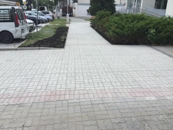Rekonštrukcia chodníka pri lekárni – Meisslova ulica