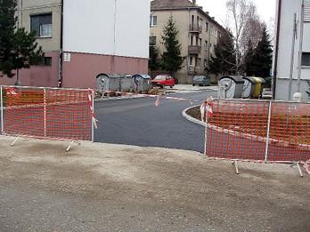 Výstavba komunikácie a parkovísk