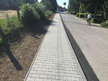 Výstavba chodníka na ul. 1. mája- vetva B