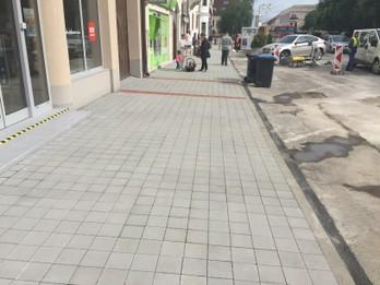 Rekonštrukcia chodníka na ulici M.R. Štefánika