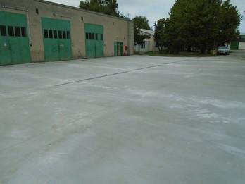 Rekonštrukcia betónovej plochy pri požiarnej nádrži