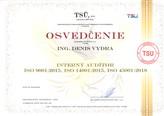Interný audítor ISO 9001:2015 , ISO 14001:2015, ISO 45001:2018